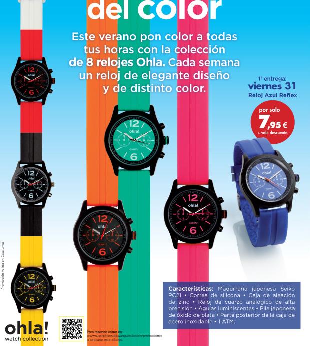 relojes colores ohla! vanguardia mundo deportivo