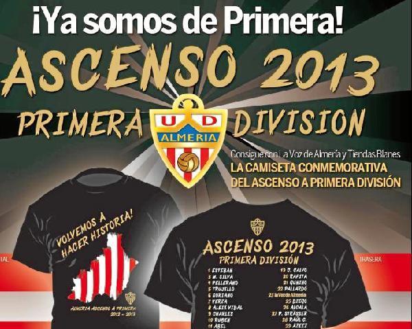 Promociones la voz de Almería - Camiseta ascenso del Almería 2013