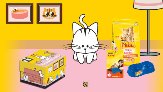 kit purina friskies gato