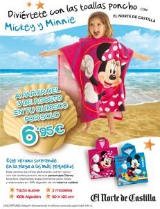 Promociones Norte Castilla - poncho Mickey y Minnie toalla playa