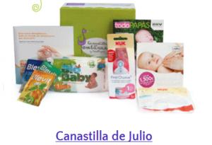 canastilla embarazo julio todopapas- muestras gratis bebes