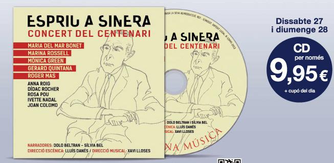 cd concierto homenaje salvador espriu - promociones la vanguardia