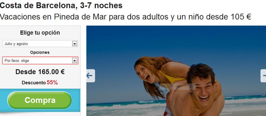 oferta vacaciones costa barcelona