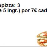 Promociones Telepizza - 3 pizzas medianas por 7 euros / pizza