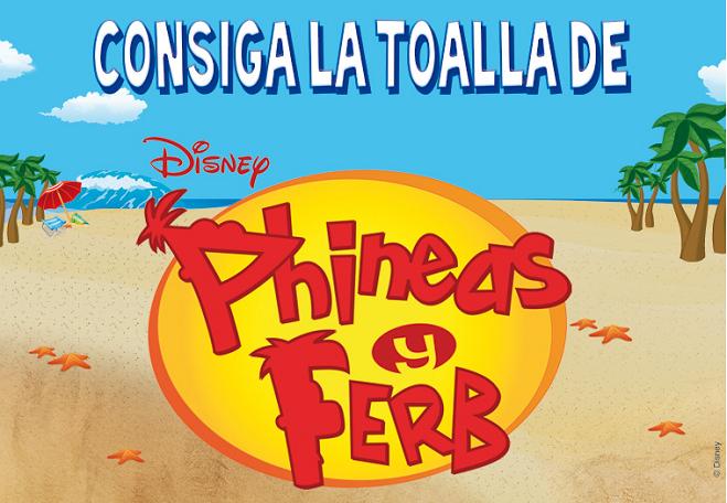 Toalla de Phineas y Ferb - promociones el Mundo