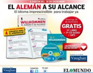 el_mundo_coleccion_curso_de_aleman_vaughan_willkommen_gratis_promocion_domingo_entregas_precio_libros