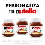 Nutella te da etiquetas personalizadas