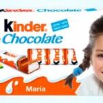 Kinder te regala una etiqueta personalizada