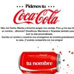Consigue tu Coca-Cola personalizada