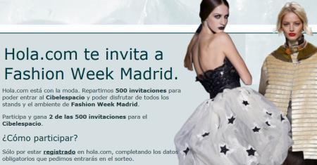entradas gratis cibeles fashion week