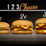 Promoción McDonalds 2014 - Hamburguesas Cheese a 1, 2 y 3 euros