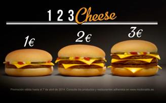 1,2,3, cheese de McDonalds