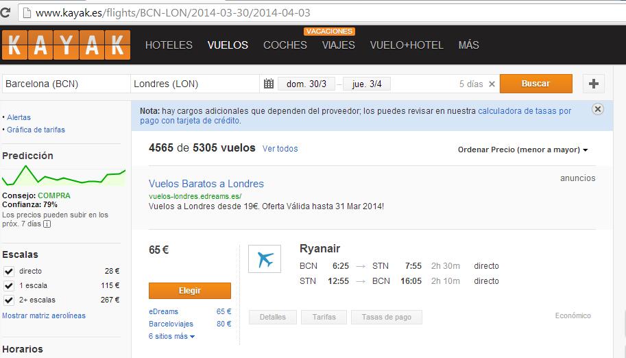 Ryanair oferta Londres 2014