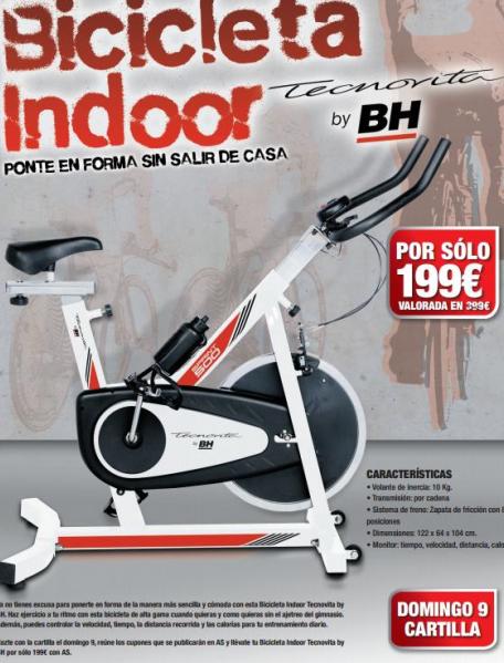 bicicleta indoor tecnovita diario as