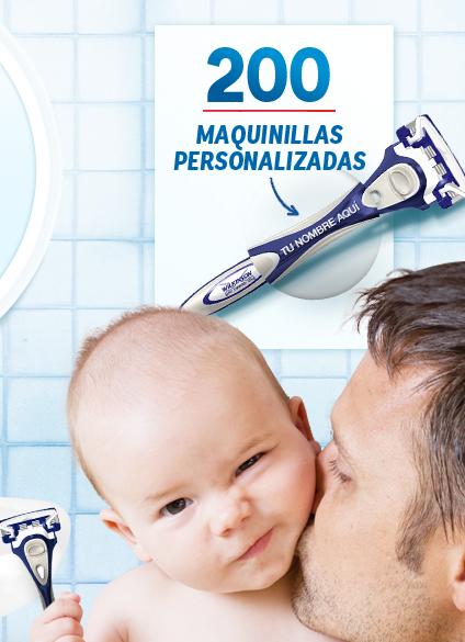maquinilla afeitar personalizada wilkinson dia del padre 2014