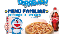 menu familiar doraemon  telepizza