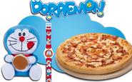pizza mediana peluche o reloj doraemon telepizza