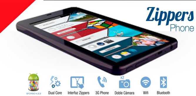 phablet vexia zippers phone 6,5 con marca