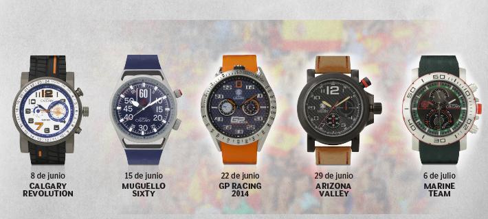 relojes calgary man summer collection con el mundo