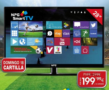 smart tv 28 npg con diario as