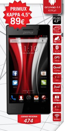smartphone libre primux kappa  marca