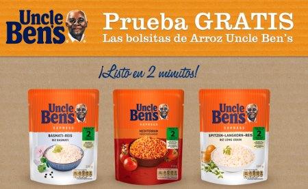 Muestras gratis de arroz Uncle Ben's