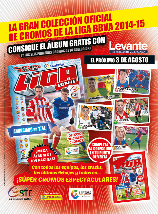Promoción Levante cromos de la liga 2014-2015
