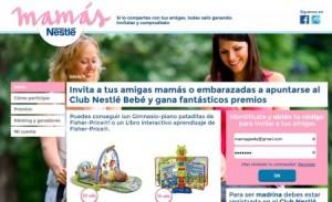 Promoción y regalos de bebés de la marca Nestlé en verano de 2014