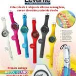 """Relojes con la promoción del periódico """"Levante"""""""