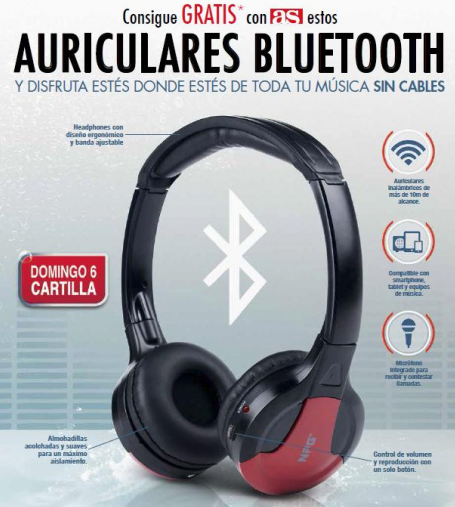 auriculares bluetooth npg con diario as
