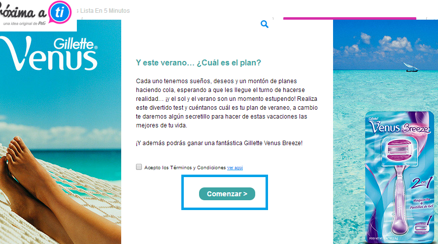 sorteo gillete venus breeze