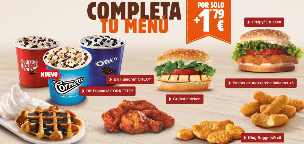 completa tu menu burguer king por 1,79 euros