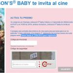 Entradas el Cine Gratis con Champú JOHNSON'S BABY