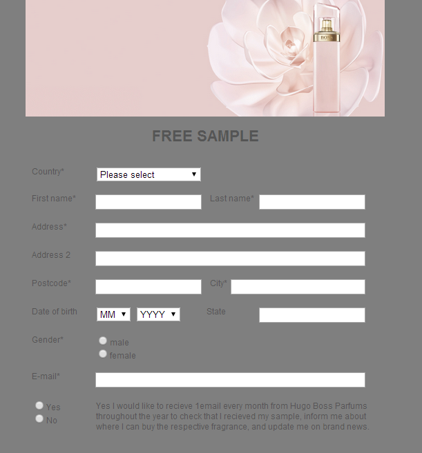 muestras gratis perfume femenino ma vie hugo boss