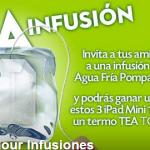 """Sorteo de termos """"TO GO"""" y Ipad's con infusiones Pompadour"""