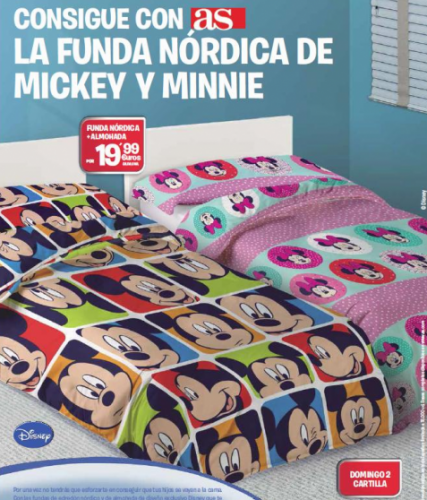 fundas nordicas disney con el diario AS