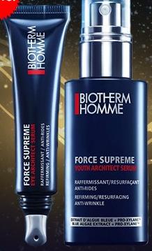 muestras gratis biotherm force supreme homme
