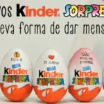 nuevo kinder sorpresa mensajes