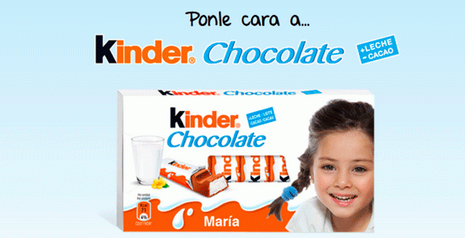 ponle cara a kinder chocolate