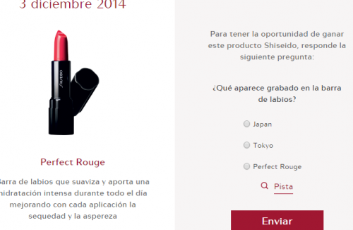 calendario adviento shiseido 2014