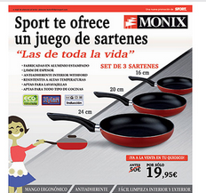 set sartenes monix sport