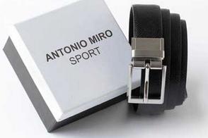 cinturon reversible antonio miro negro