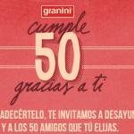 Granini te Invita a Desayunar por su 50 Cumpleaños
